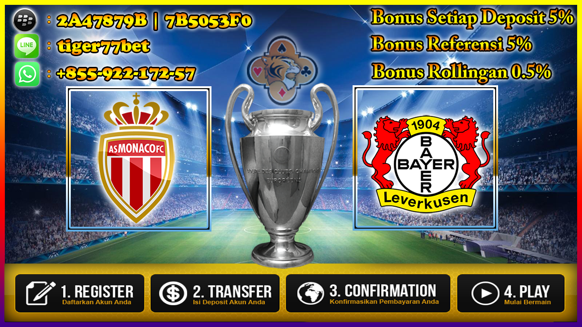 Prediksi AS Monaco vs Bayer Leverkusen 28 September 2016