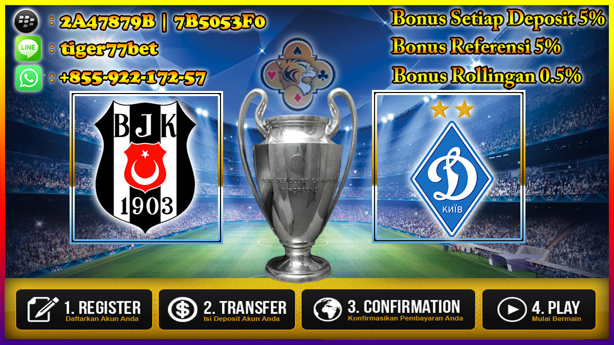 Prediksi Besiktas vs Dynamo Kiev 29 September 2016