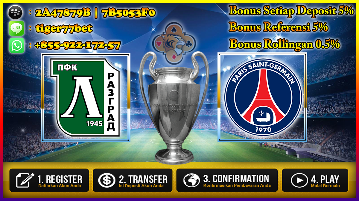 Prediksi Ludogorets Razgrad vs Paris Saint Germain 29 September 2016