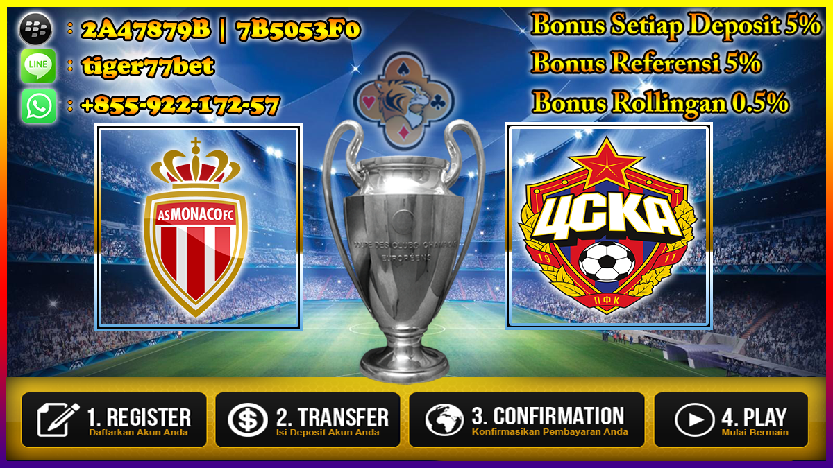 Prediksi AS Monaco VS CSKA Moscow 03 November 2016