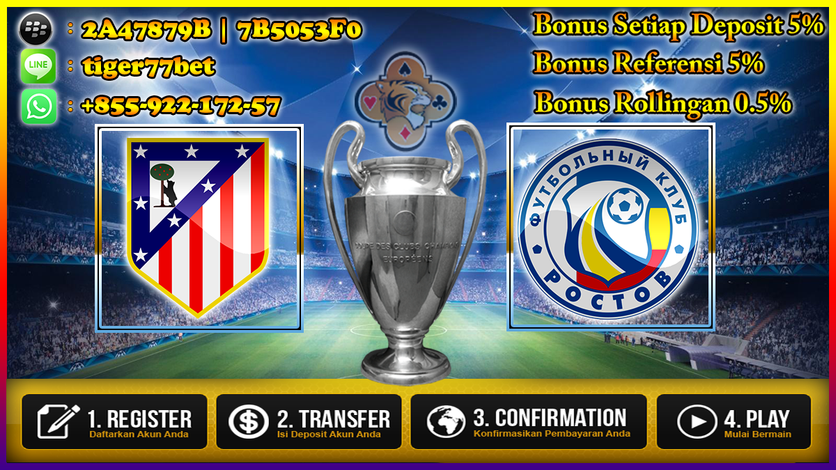 Prediksi Atletico Madrid VS Rostov 02 November 2016
