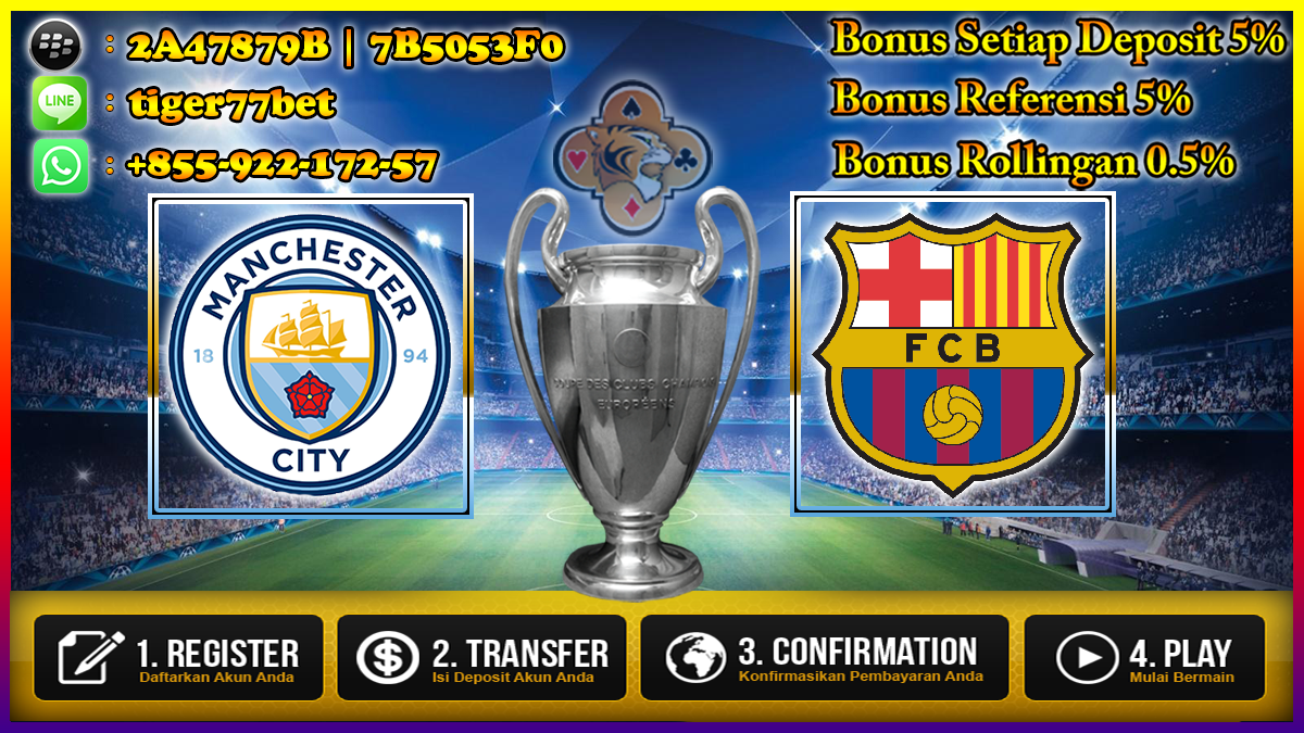 Prediksi Manchester City VS Barcelona 02 November 2016