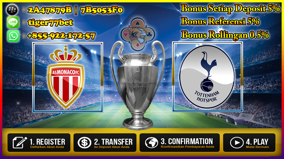 Prediksi AS Monaco Vs Tottenham Hotspur 23 November 2016