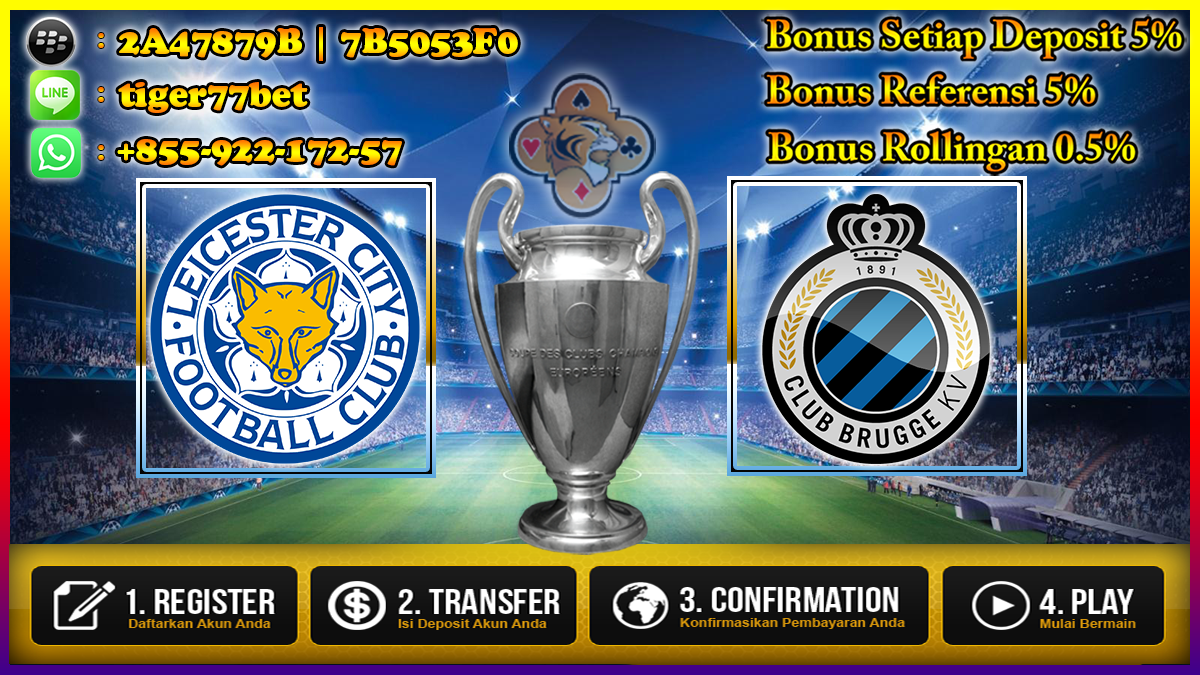 Prediksi Leicester City Vs Club Bruges 23 November 2016